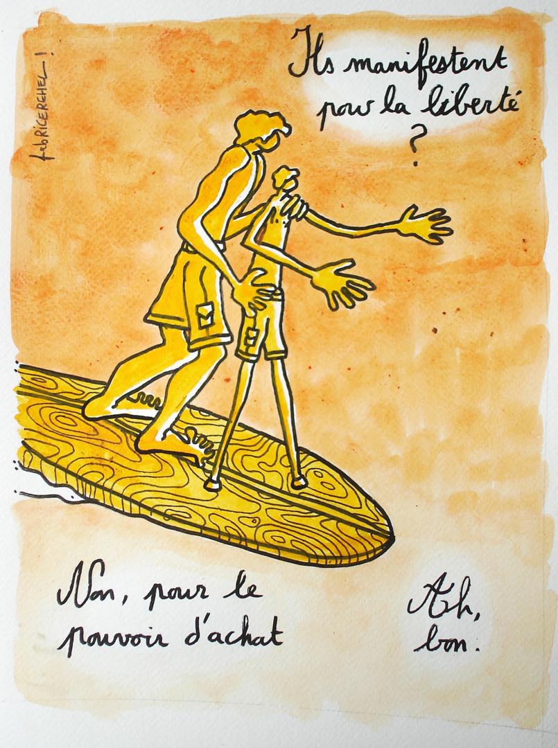 Fabrice Réhel - Ils manifestent pourla liberté ?