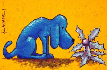 Chardon Des Dunes Et Chien Bleu