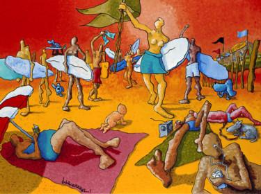 La Liberté Guidant Le Peuple -En Route Pour La Leçon De Surf